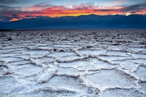 Badwater salt polygon formations.