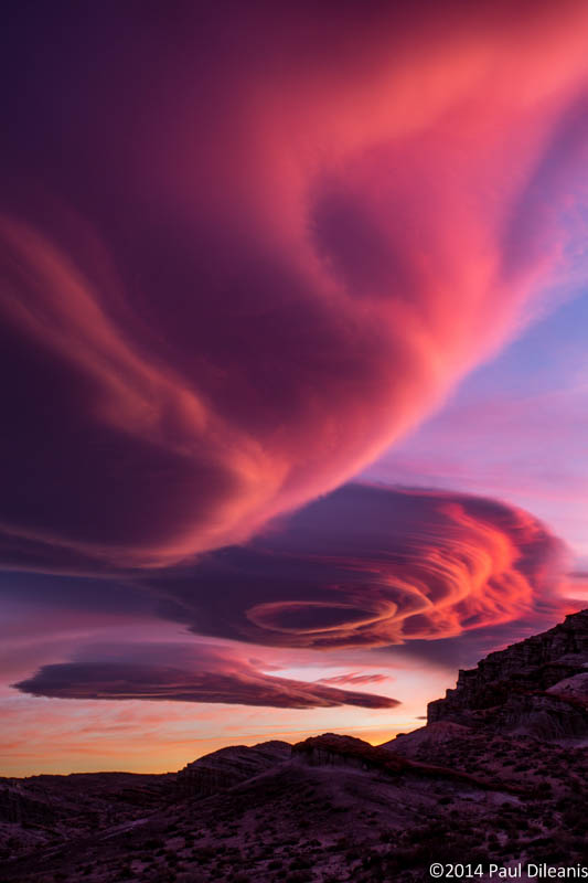 Lenticular Clouds at Sunset