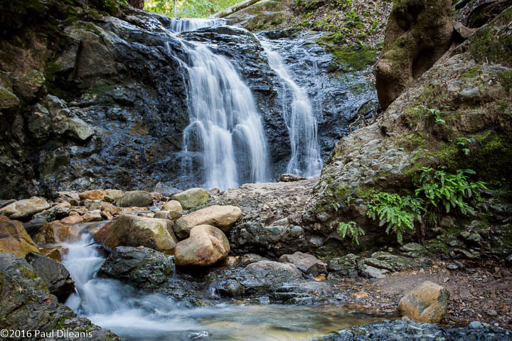 The upper falls is reached at the end of a ¾ mile hike.