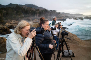 The large surf provided an exciting afternoon of photography during the workshop.